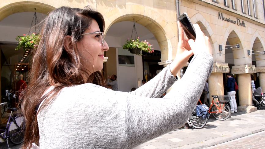A Participant taking a Selfie