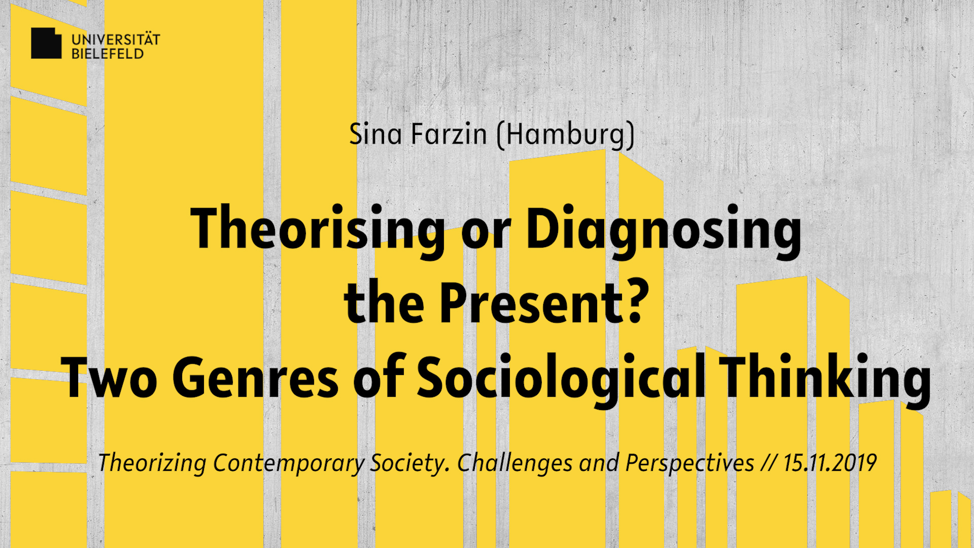 Theorising or Diagnosing the Present? Two Genres of Sociological Thinking