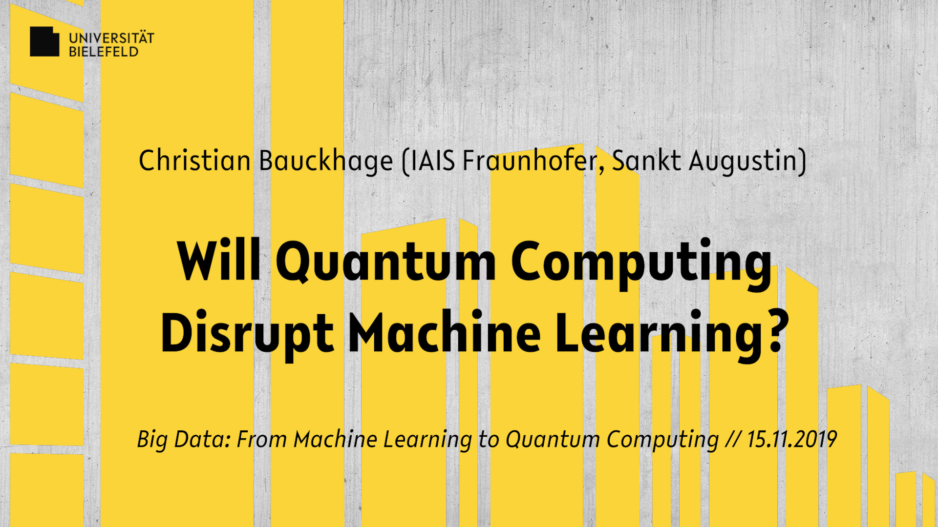 Will Quantum Computing Disrupt Machine Learning?