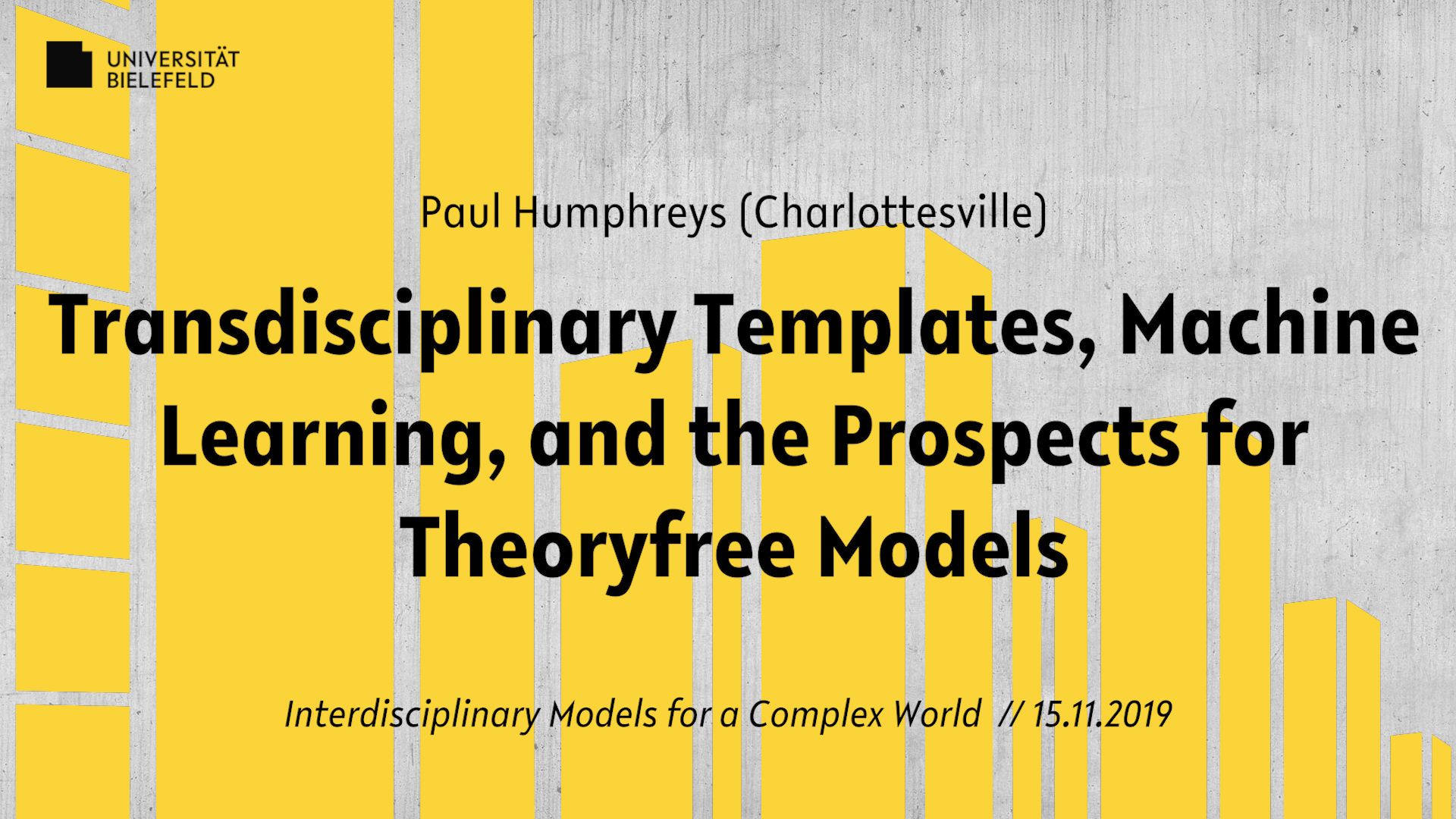 Transdisciplinary Templates, Machine Learning, and the Prospects for Theory-free Models