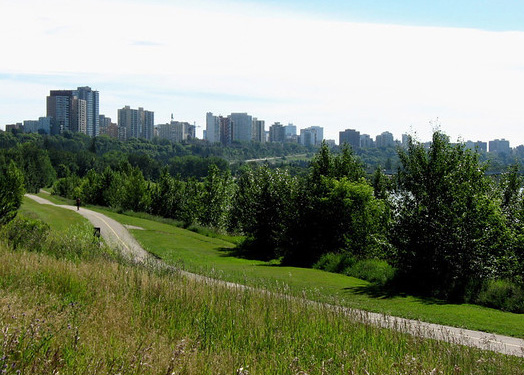 Green landscape in Edmonton