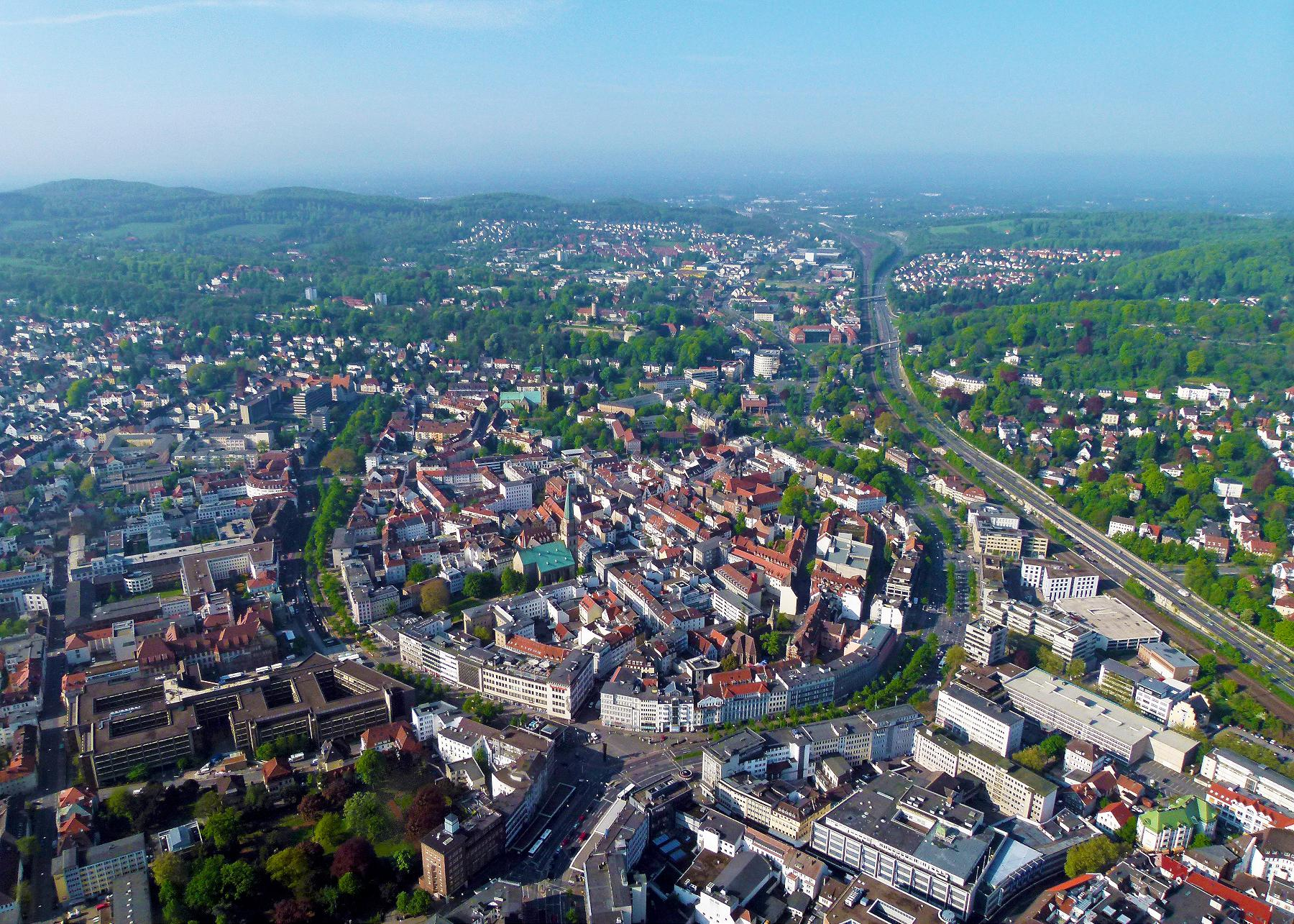 Aeral view on Bielefeld