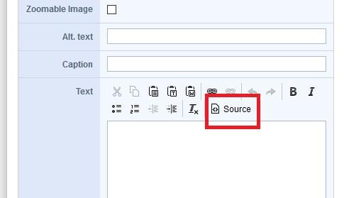 Titelbild: Roxen17-Editor mit Button Source